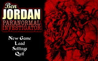 Ben Jordan: Paranormal Investigator Case 7 - The Cardinal Sins Windows Menu