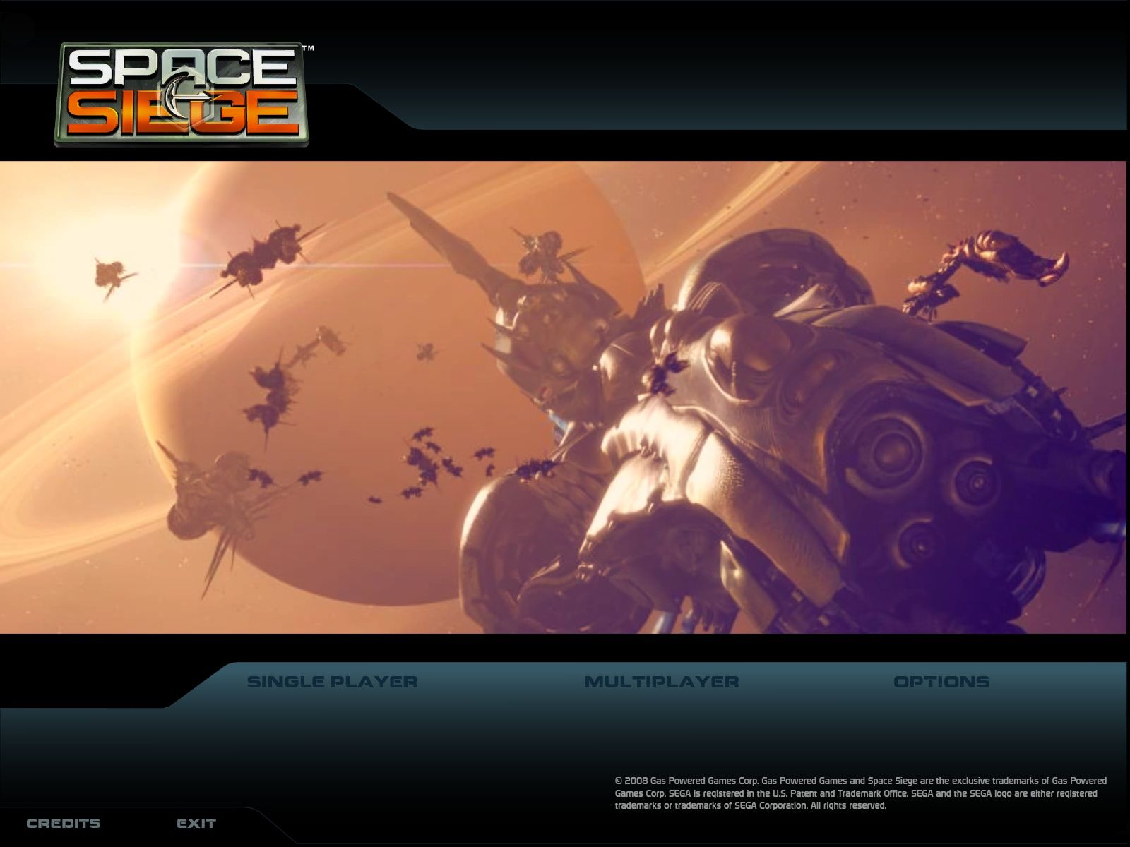Space Siege Windows Main Menu