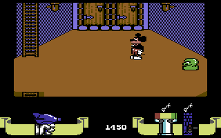 Mickey Mouse: The Computer Game Commodore 64 Some slimy thing is approaching