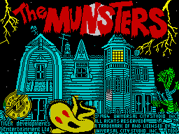The Munsters ZX Spectrum Loading screen
