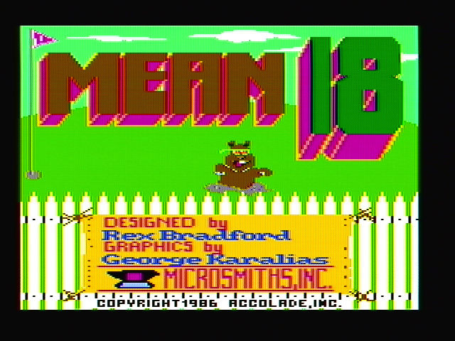 Mean 18 DOS Title screen (CGA with composite monitor)