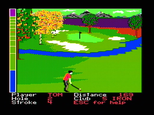 Mean 18 DOS Near the green (CGA with composite monitor)