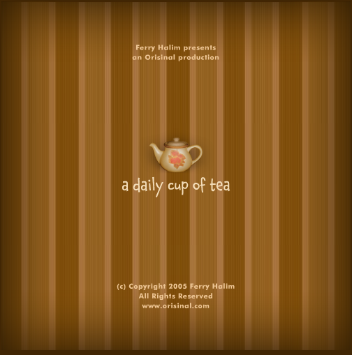 a daily cup of tea Browser Title screen