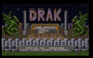 Drak DOS Title screen