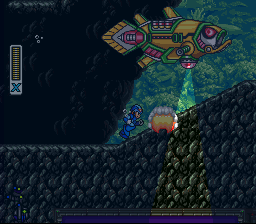 Mega Man X2 SNES Bubble Crab's stage: This large fish has lots of different attacks