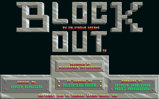Blockout Atari ST Title screen