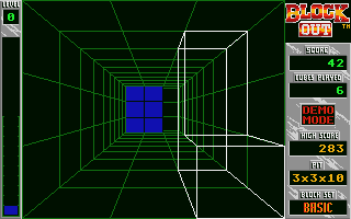 Blockout Atari ST In the beginning of a game