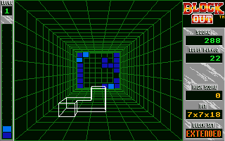 Blockout Atari ST A big game area and blocks in strange forms