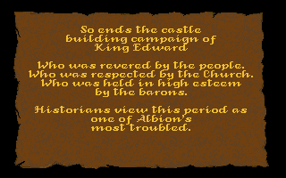 Castles Atari ST Game over