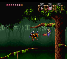 Demon's Crest SNES In a forest