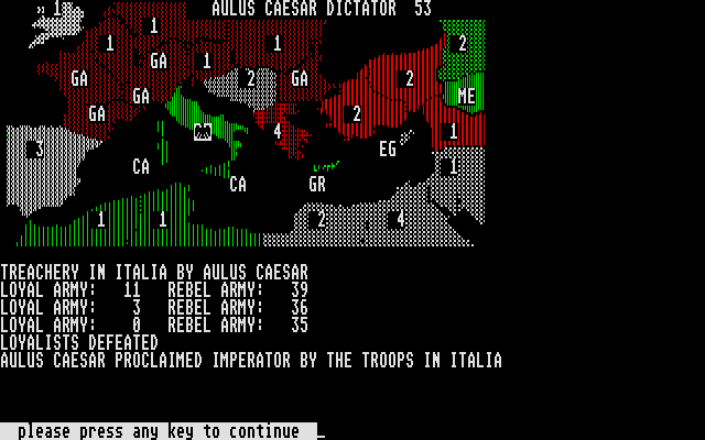 Annals of Rome Atari ST Treachery in Italia by Aulus Caesar