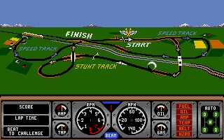 Hard Drivin' Atari ST Map of the track