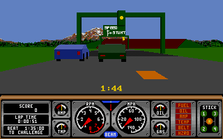 Hard Drivin' Atari ST Get ready to race