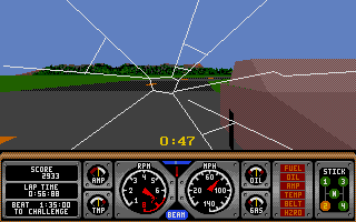Hard Drivin' Atari ST He hit me! (OK, I was driving on the wrong side of the road)