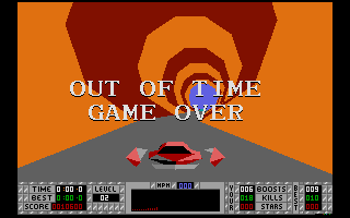 S.T.U.N. Runner Atari ST Game over