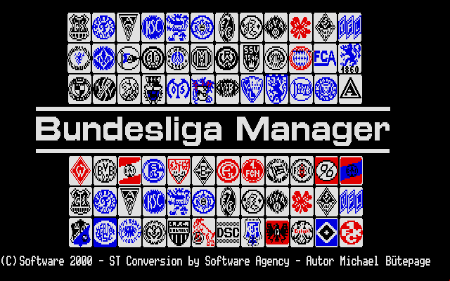 Bundesliga Manager Atari ST Title screen