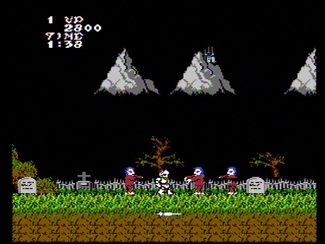 Ghosts 'N Goblins NES Starting a new game