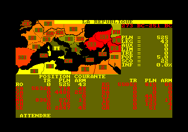 Annals of Rome Amstrad CPC This is how the world is divided.