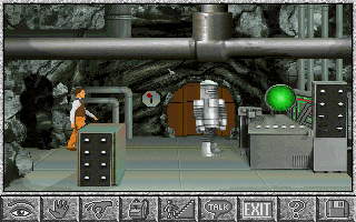 Amazon: Guardians of Eden DOS In a high security vault guarded by a robot. (VGA)
