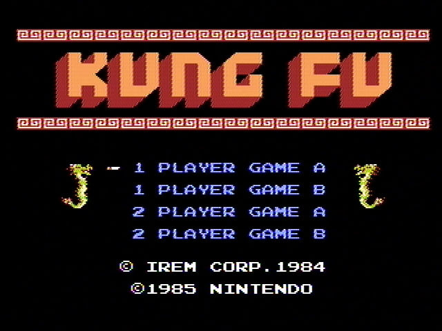 Kung-Fu Master NES Title screen