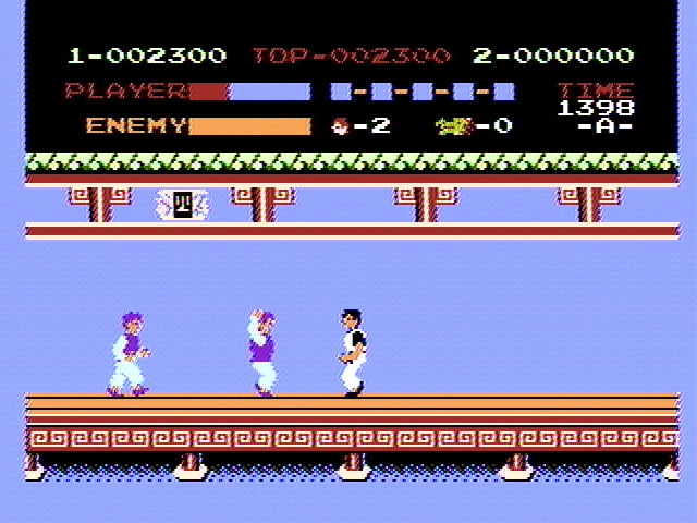 Kung-Fu Master NES On the first level
