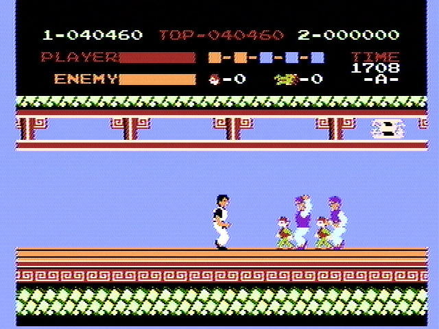 Kung-Fu Master NES Bad guys can be tall or small