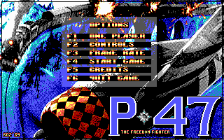 P47 Thunderbolt DOS Main menu