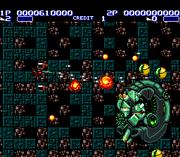 Air Buster TurboGrafx-16 Phase 2 boss