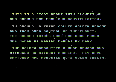Last Duel: Inter Planet War 2012 Commodore 64 Story