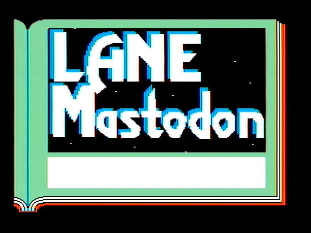 Lane Mastodon vs. the Blubbermen PC Booter Title screen (CGA with composite monitor)