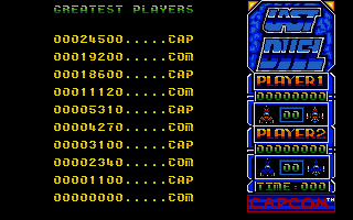 Last Duel: Inter Planet War 2012 Atari ST The high score table