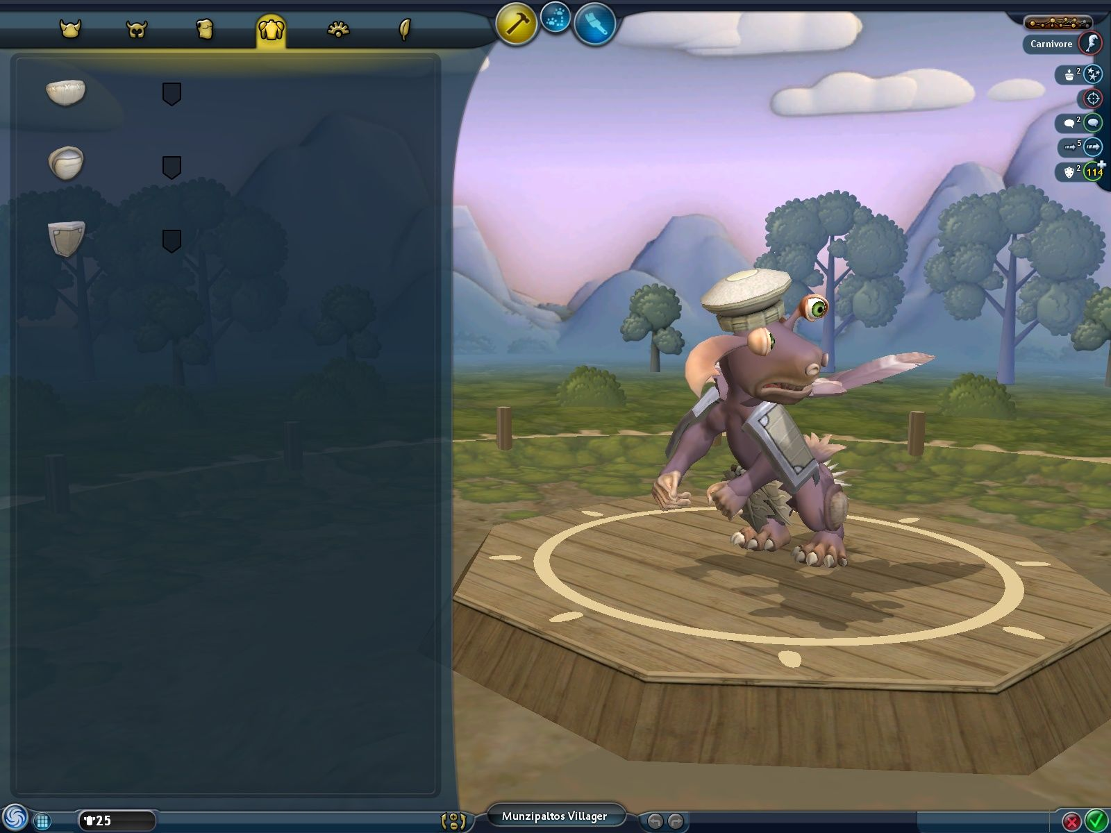 Spore Windows The tribal outfit editor