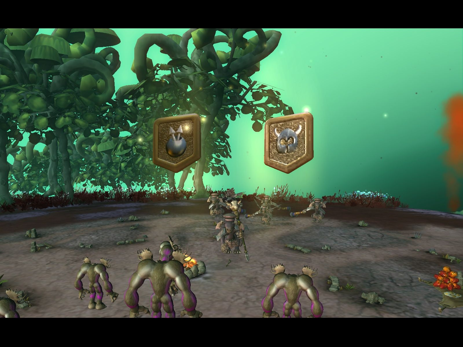 Spore Windows My creatures allied themselves with these tribes and got additional tools and outfits.
