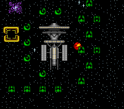 War 3010: The Revolution SNES Great: the enemy starts out with a lot more ships right next to a starbase.