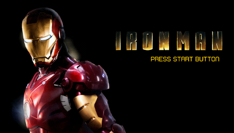 Iron Man PSP Title screen