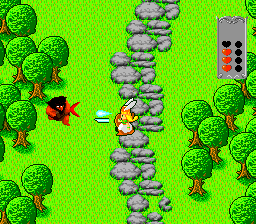 Valkyrie no Densetsu TurboGrafx-16 Game start, these enemies attack with boomerangs
