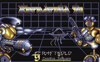 Paradroid 90 Amiga Title screen