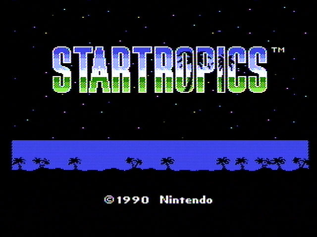 StarTropics NES Title screen