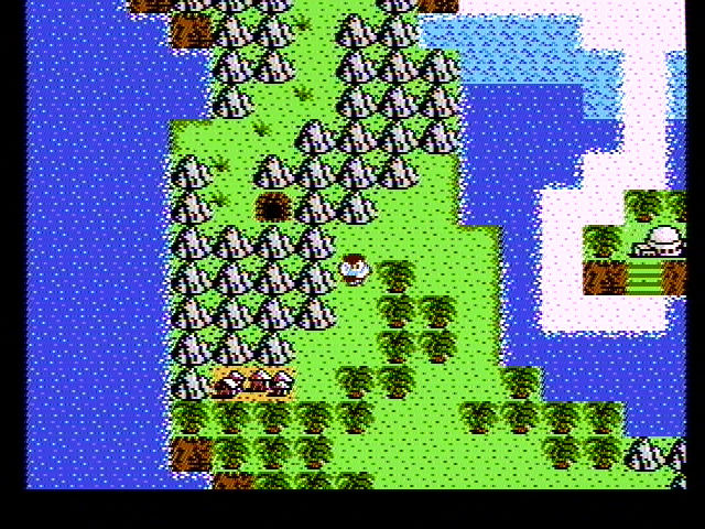 StarTropics NES Overhead view of the island