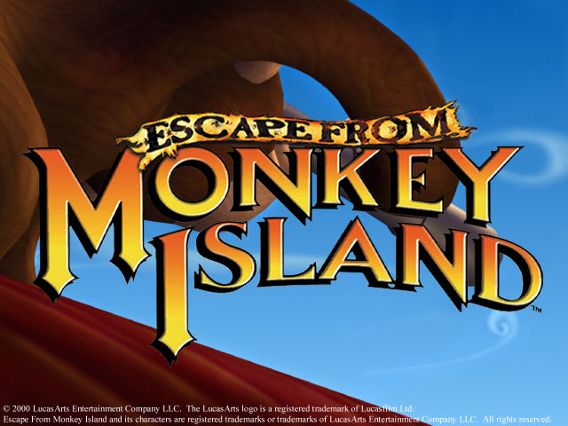 Escape from Monkey Island Windows Title screen