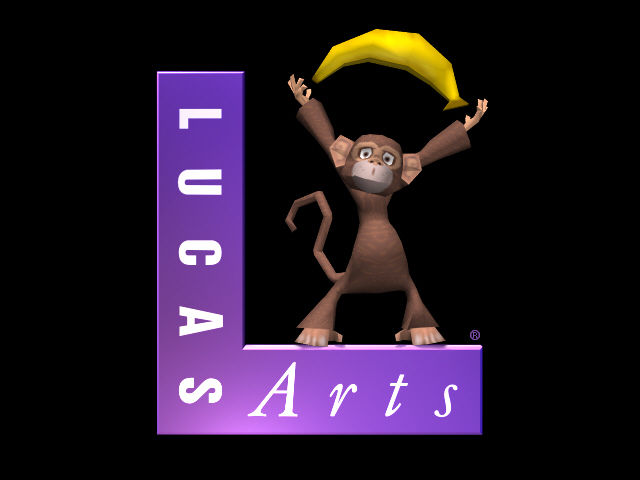 Escape from Monkey Island Windows LucasArts logo with monkey