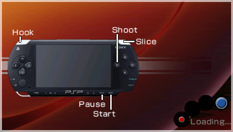 SNK Arcade Classics Vol. 1 PSP Button configuration is shown in the loading screen