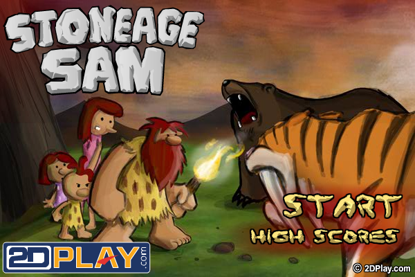 StoneAge Sam Browser The title screen.