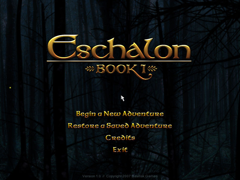 Eschalon: Book I Windows Title Screen