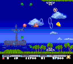 Parodius TurboGrafx-16 The first level