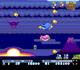 Parodius TurboGrafx-16 If you collect a green bell, you become large and invincible