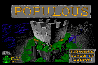 Populous TurboGrafx-16 Title screen
