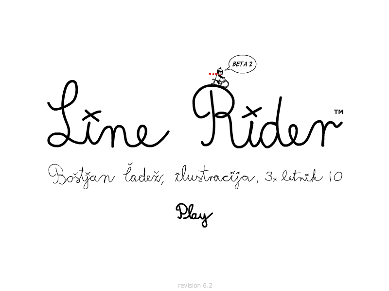 Line Rider Browser Title screen (Flash version)