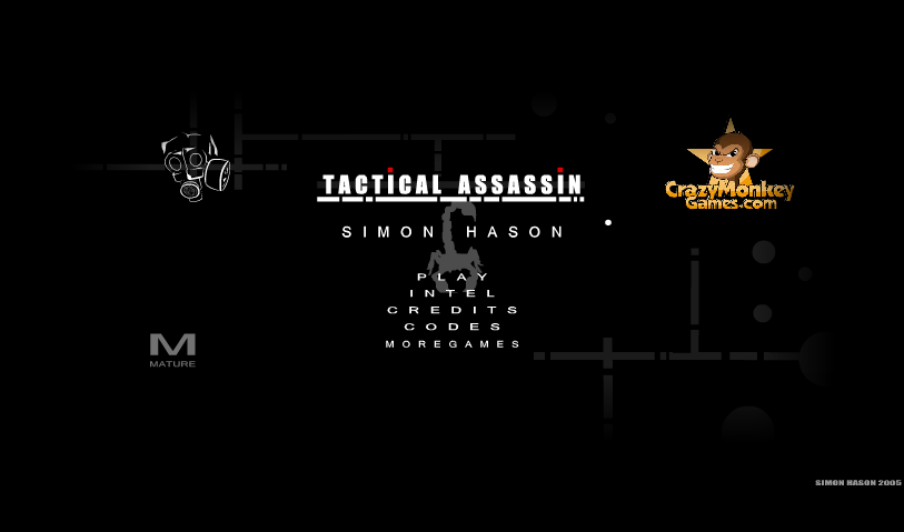 Tactical Assassin Browser Title screen.