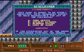 Xargon DOS Oh Epic MegaGames...how I miss these screens.